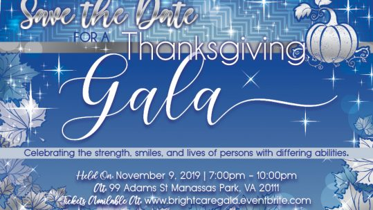 Brightcare SaveTheDate 2019 539x303 - 2nd Annual Thanksgiving Gala