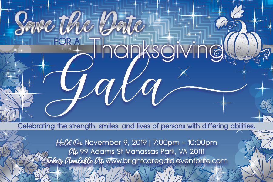 Brightcare SaveTheDate 2019 - 2nd Annual Thanksgiving Gala